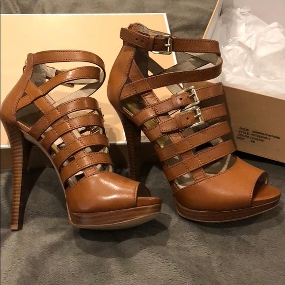 d292eea16d Michael Kors Shoes | Brand New Box Sandraplatform Heel 8 | Poshmark